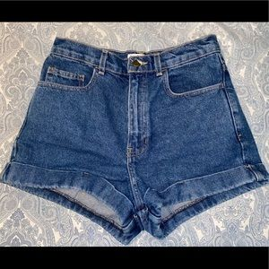 High Waist American Apparel Denim Shorts